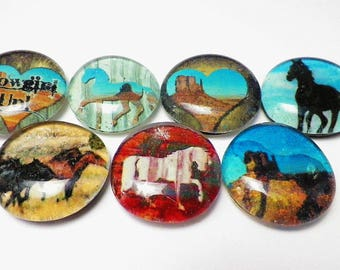 Magnets for Your White Board or Refrigerator. Pretty Up Your Reminders. Set of 4 with Strong Rare Earth Magnets