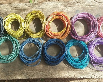 African rubber, strand 38/46 inches, reclaimed rubber made in Mali, to make bracelets, 11 colors