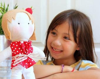 Miss Evelyn Doll - Handmade Doll