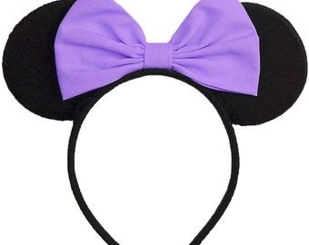Daisy Duck Ears lavender Purple Daisy Duck Bow Daisy Duck Costume Minnie Mouse Ears Mickey Mouse Ears Mickey Ears Disney Ears Daisy Ears