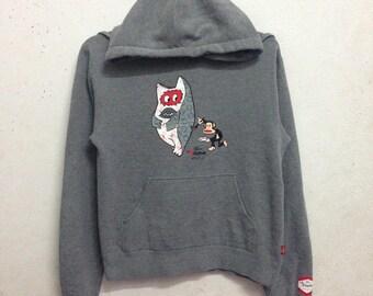Vintage 90's Paul Frank Hoodies Sweatshirts Kids Clothing