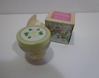 Vintage 70s Avon Gardenia Cream Sachet Perfume Jar in Box, Holiday Snowman Theme Box Edition, Rare Collectors Gift