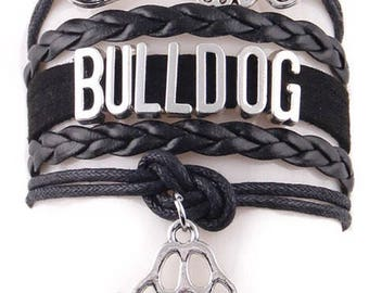 Love Bulldog Adjustable Wrap Bracelet