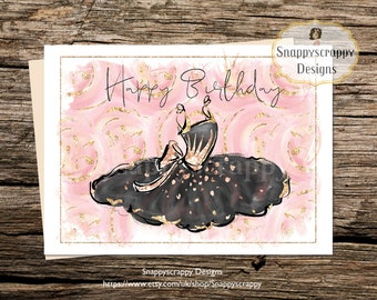 Ballerina Birthday Card - Cards for Her
