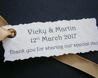 10 Personalised Wedding Favour Tags