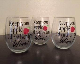 Keep your apple wine glass