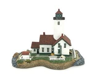 Collectible Lighthouse Replica * Harbor Lights Sculpture * New Dungeness * Sequim, Washington