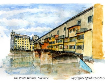 090 A view of the Ponte Vecchio in Florence