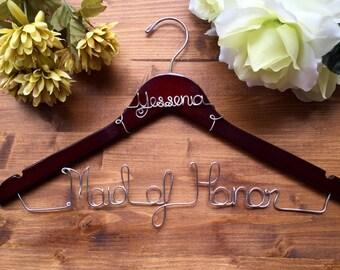 SALE Maid of Honor Hanger Bridal Hanger / Bride Hanger / Name Hanger / Wedding Hanger / Personalized Bridal hanger / Bridal Gift