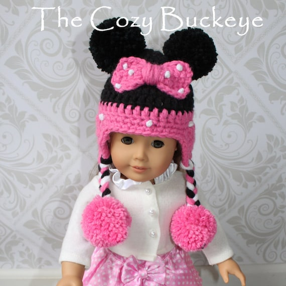Instant Download Crochet Pattern Minnie Mouse Hat American
