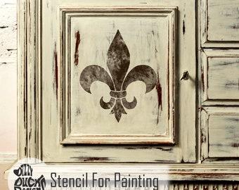 FLEUR DE LYS Motif Stencil - French Medieval Wall Floor Furniture Craft Stencil for Painting - FLEU02