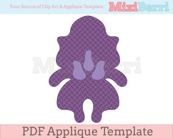 Iris Applique Template PDF