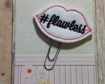 Flawless Lips Planner Clip   Paperclip Bookmark    Bookmark    Paperclip   Planner Bookmark   Paperclip Bookmark   Planner Clips