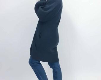 vintage grey fuzzy cardigan jacket | medium | the Olivia sweater