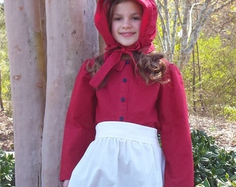 Prairie Pioneer Dress with Apron & Bonnet size 8/10