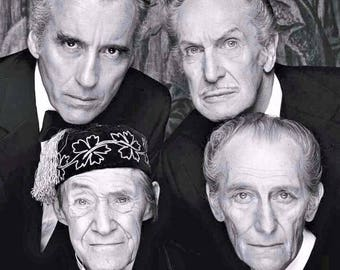 True Masters of Horror, Christopher Lee, Vincent Price, John Carradine, and Peter Cushing.