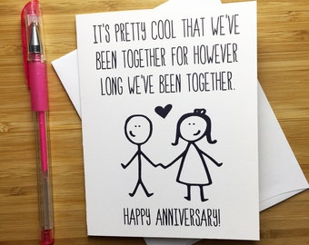 Funny Anniversary Card, Happy Anniversary, Anniversary Card for Him, Funny Love Card, Happy Anniversary Gift, Cute Love Card for Girlfriend