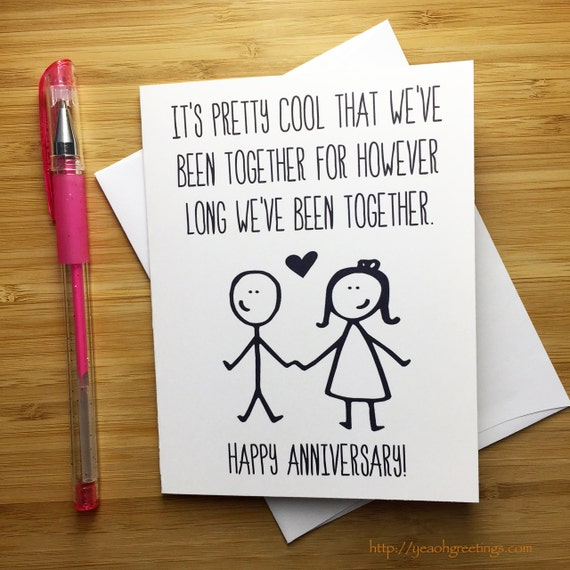 Exceptional Funny Anniversary Card Happy Anniversary Anniversary Card