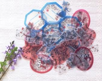 35pcs Alice In Wonderland Flake Stickers Seals, Journaling Stickers, Cute Stickers