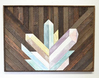 Crystal Wood Mosaic Art