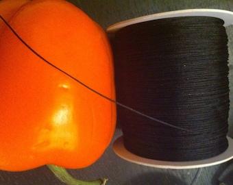 2 meters of 0.8 mm diameter black color nylon thread