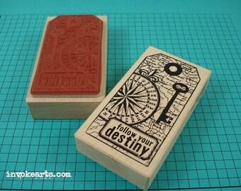 Destiny Tag Stamp / Invoke Arts Collage Rubber Stamps
