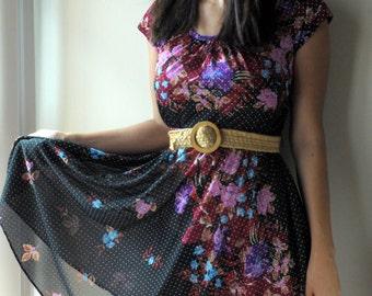 SALE rayon floral dress