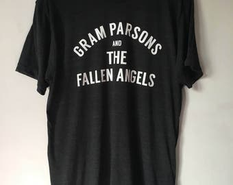 Gram Parsons and the Fallen Angels. Tri Blend T shirt! Country, Flying Burrito Brothers,Desert, 70s, Emmy Lou Harris, Country Rock,Americana