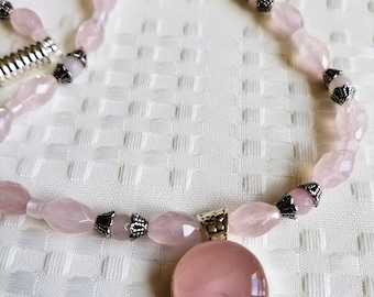 Pink Parfait                  Rose Quartz Necklace