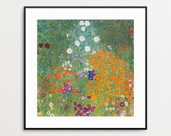 Klimt - Bauerngarten - Gustav Klimt Print - Gustav Klimt Wall Art - Gustav Klimt Flowers - Guxtav Klimt Painting - Free Shipping USA