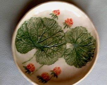 Ceramic plate Decorative plate Dinner plate Cloudberry bush Handmade pottery plate Home decor Wedding gift Kitchen decoration Salad plate
