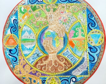 The tree of life mandala