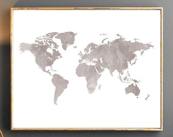 Watercolor world map world map wall art world map poster grey watercolor world map world map wall art world map poster grey world map watercolor wallpaper large world map watercolor map grey map travel gumiabroncs