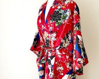 Japanese Kimono Robe Peony Japanese Traditional Kimono