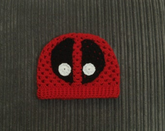 Deadpool Handmade Adult Slouch Hat - Crochet Granny Square Hat