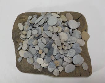 "250+ Selection Of Small/Tiny 0.3 - 1.1""/0.8-2.8 cm Beach Stones - Bulk Small Beach Pebbles - Small Sea Stones #221"
