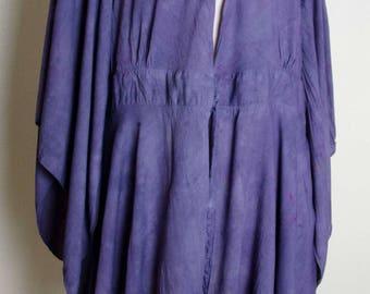 Artsy india indian dress dressy Plus size loose yoga 2xl xxl Womens tunic 3x 4x jacket Hand dyed painted hippy hippie boho