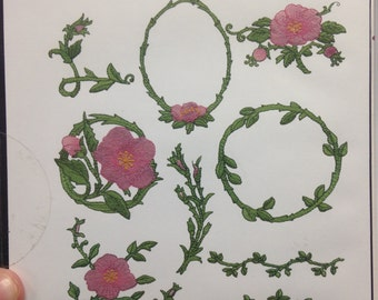 Wild Rose machine embroidery design set by Inspira - 10 designs
