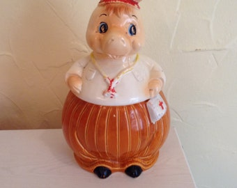 Antique Cookie Jar-Horse Doctor.1940's.Japan