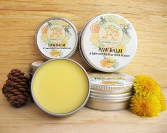 Paw Balm: Paw protector, paw wax, paw butter, puppy paw balm, organic paw balm, natural dog balm, dog paw wax, dog care, pad protection