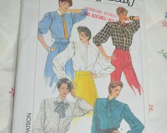 Simplicity 7091   Misses Blouse Sewing Pattern - UNCUT - Size 10