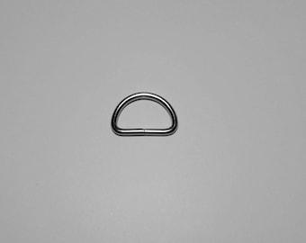 set of 4 rings silver half moon 2.5 cm