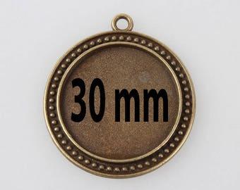 2 blank pendant tray (pr 30mm)