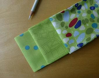 Barcelona Lime Green FQ Bundle Moda Zen Chic Brigitte Heitland Fat Quarter (3) Pieces - Modern Quilting Sewing Crafting Cotton
