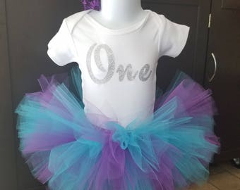 One*First Birthday, Girl Birthday Outfit, First Birthday Tutu, Gift for girl