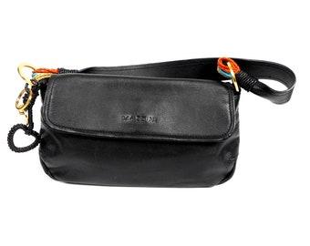 MAZZINI Bag, Mazzini Handbag, Genuine Leather Bag, Italian Bag, Black Leather Shoulder Bag, Cross Body Bag