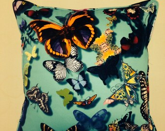 Designers Guild Cushion Cover 'Butterfly Parade' Lagon 16x16