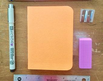 Bulk Blank Notebooks   3.5 x 5   Orange Notebook   Notebook   Sketchbook   Journal   Orange Journal   Orange Sketchbook   Travelers Notebook