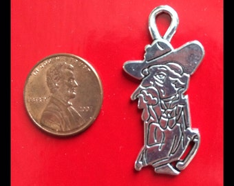 Large Ole Miss Rebel pewter charm (1) 36x18mm