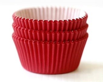 Solid Red Cupcake Liners